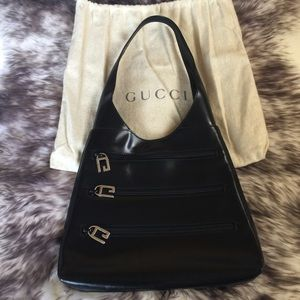 Authentic Gucci Patent leather Shoulder Bag